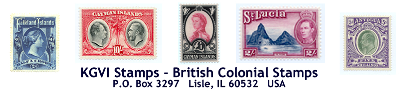 kgvi stamps home page - stamps for collectors